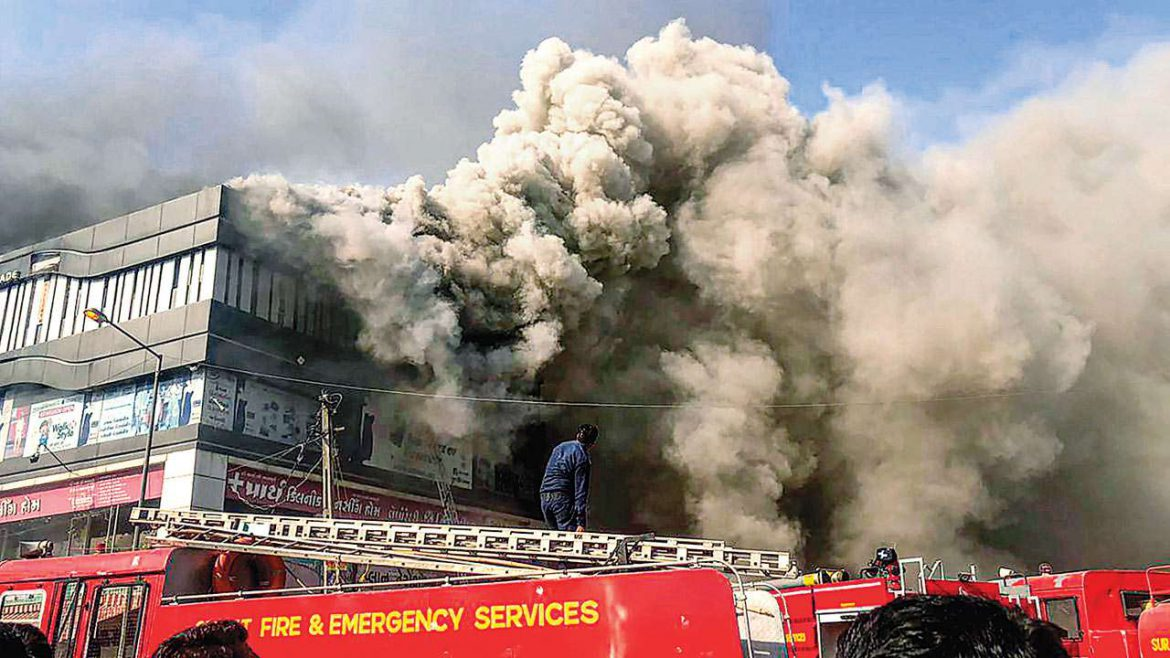 20 Killed in Massive Blaze at Coaching Center in Surat